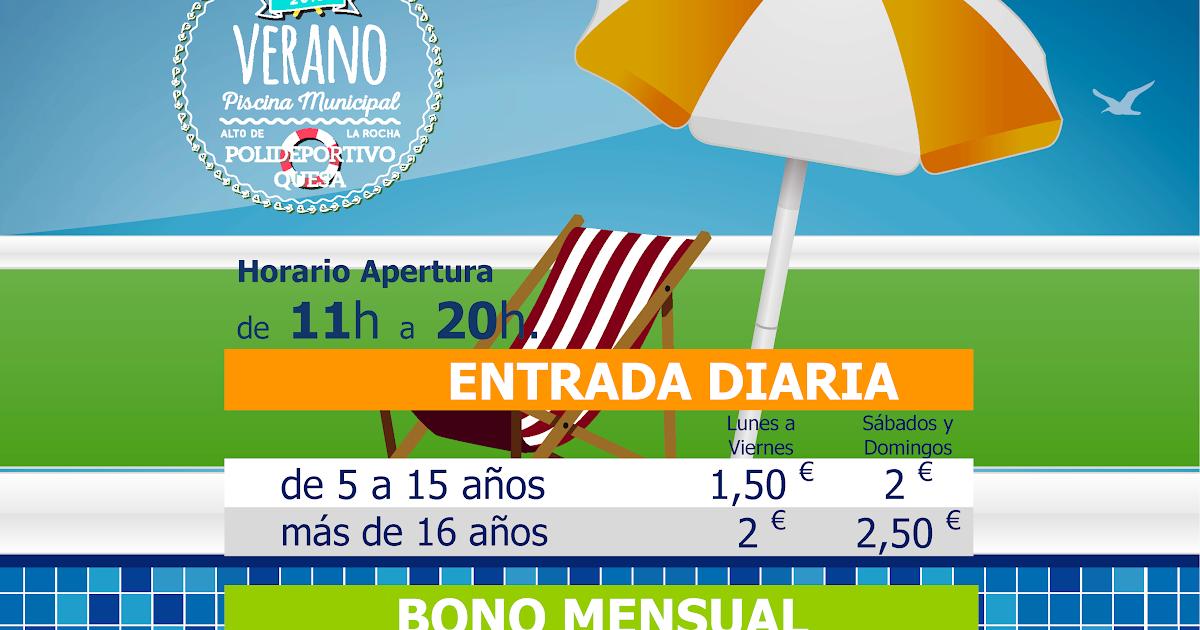 Policía Local de Quesa: Cartel Precios Temporada Piscina Municipal ...