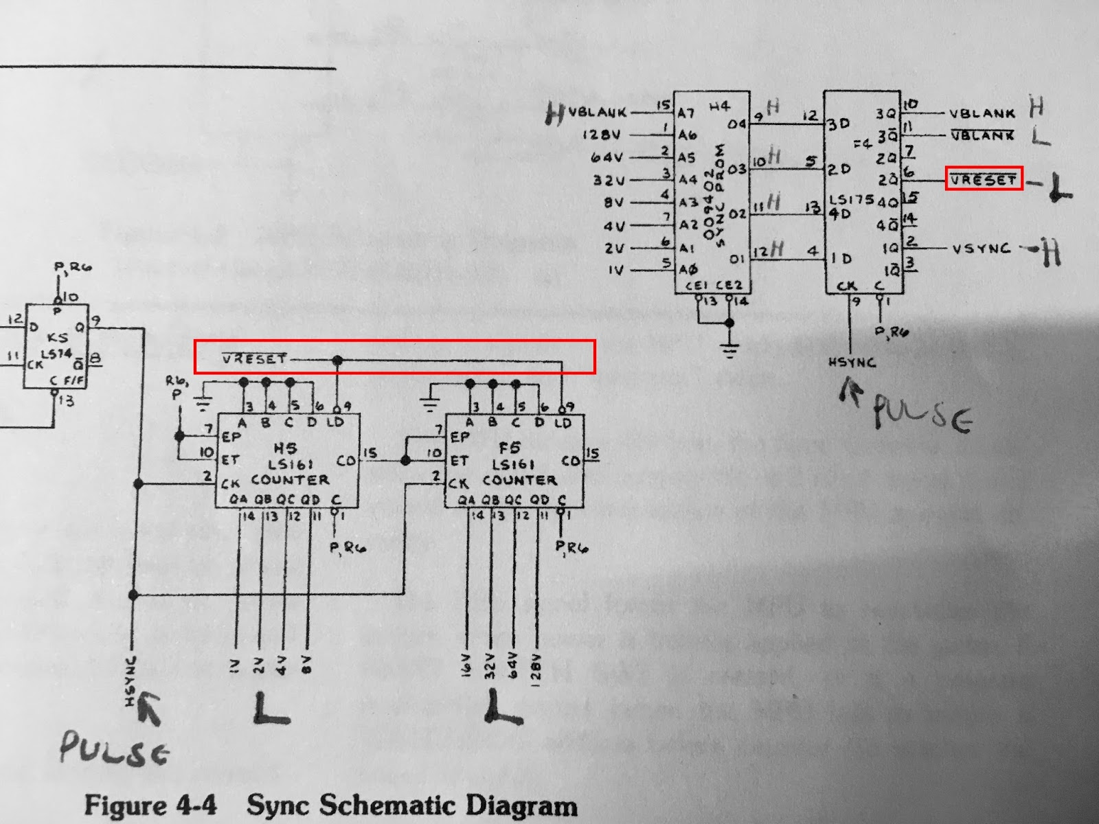 Atari Fire Truck Wiring Diagram Free Download Diagrams Pinball Jump N Video Pcb Repair As I Noted On My Printed Schematic All Of The Vertical Output Signal Were Low These Should Be Seem To