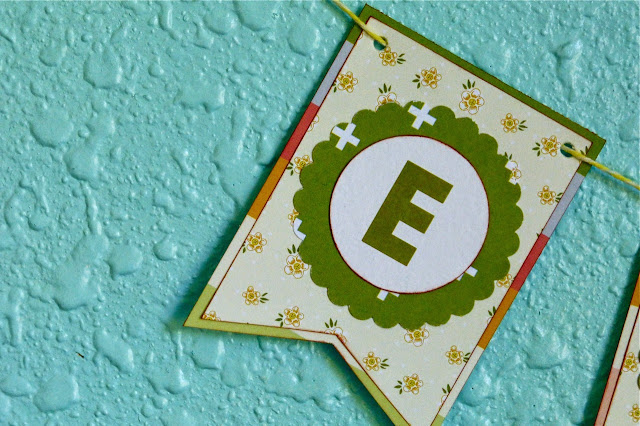 name banner, scrapbook supplies, use scrapbook supplies to make name banner