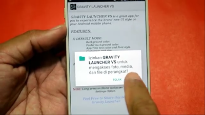Tampilan Android Mengikuti Gravitasi