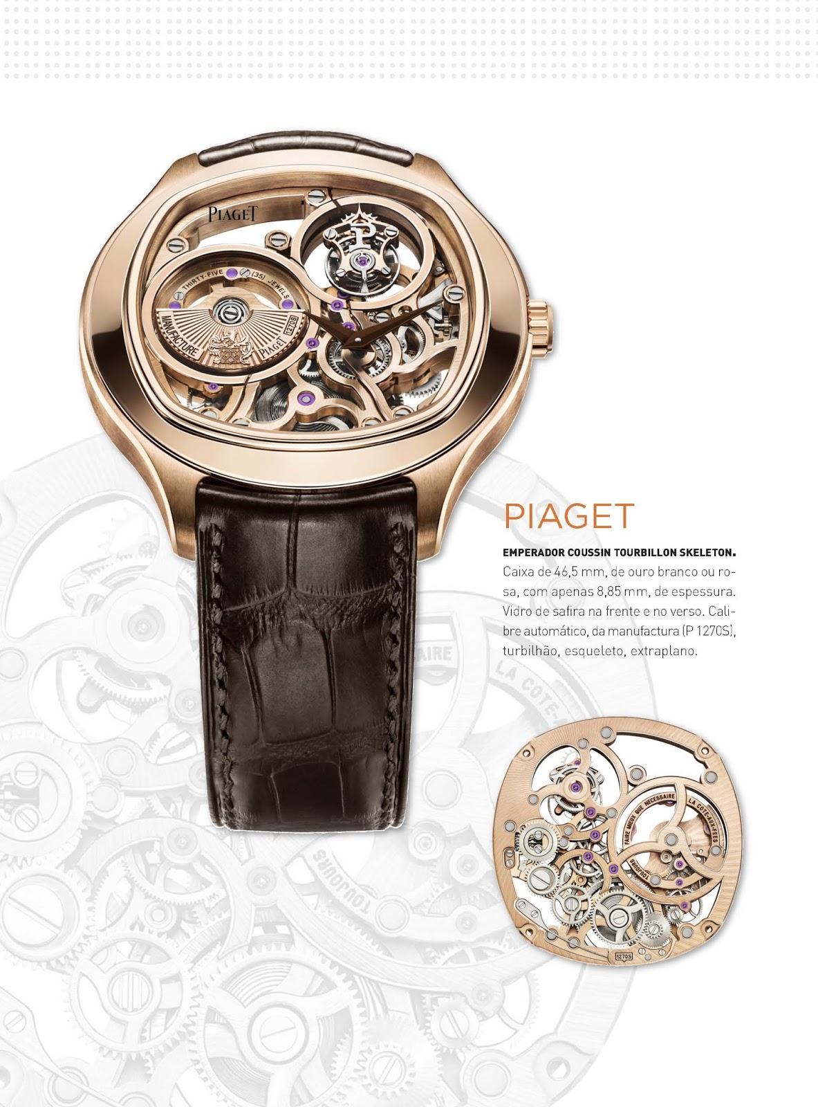 b3dd904943e Relógios   Canetas online - relógio Piaget Emperador Coussin Tourbillon  Skeleton