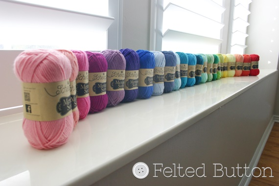 Scheepjes Merino Soft yarn (Felted Button - Colorful Crochet Patterns)