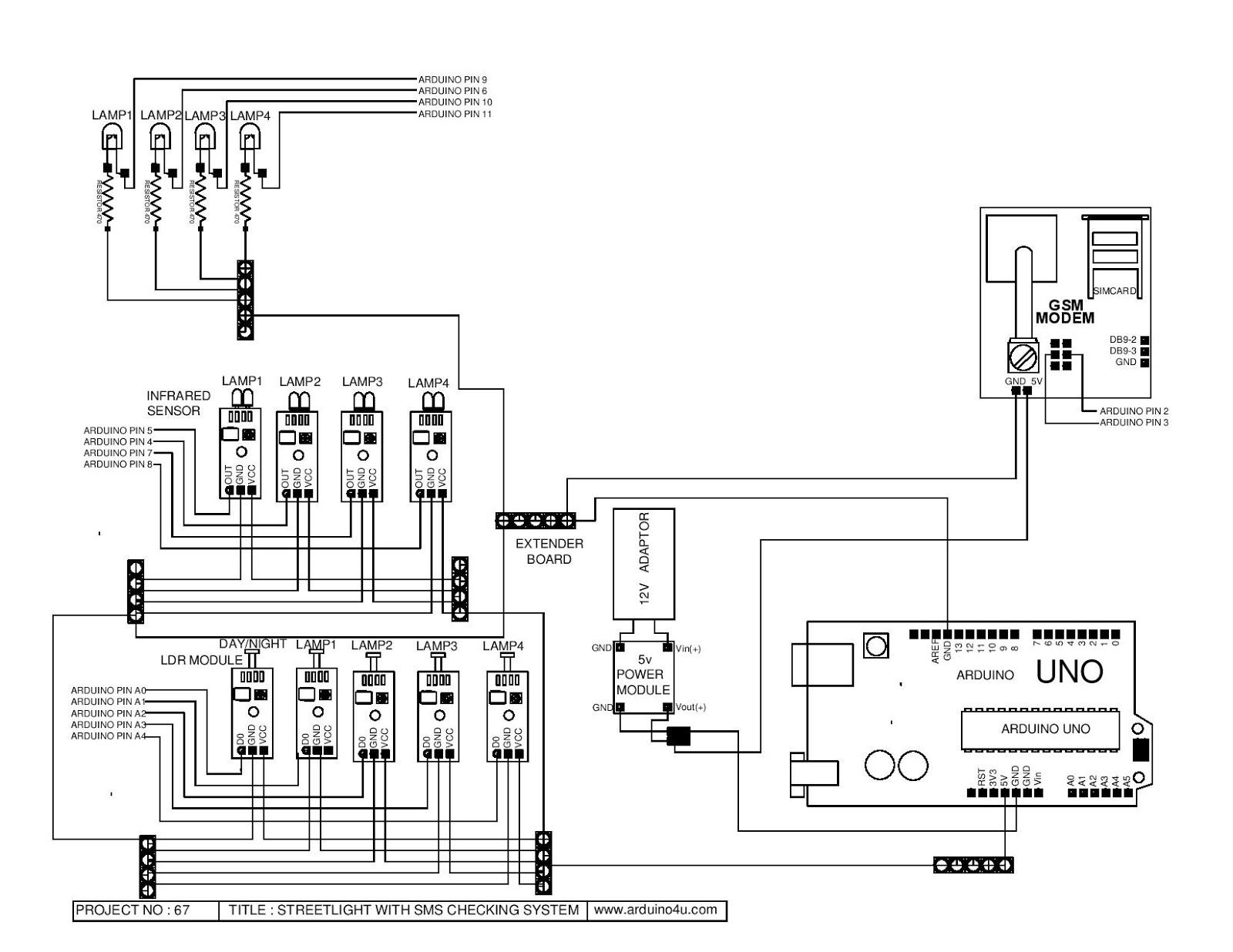 Projek Elektronik Arduino4u 67reetlight