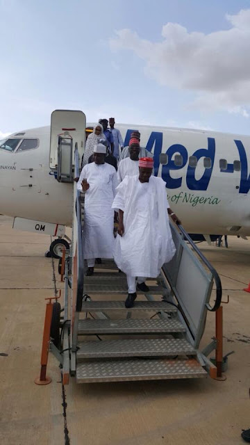 Kwankwaso Lands In Borno State To Launch Scholarship Programme For Orphans. Pics