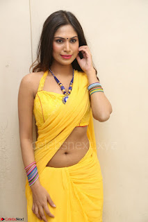 Nishigandha in Yellow backless Strapless Choli and Half Saree Spicy Pics 097.JPG