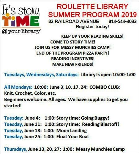 Roulette Library June Program