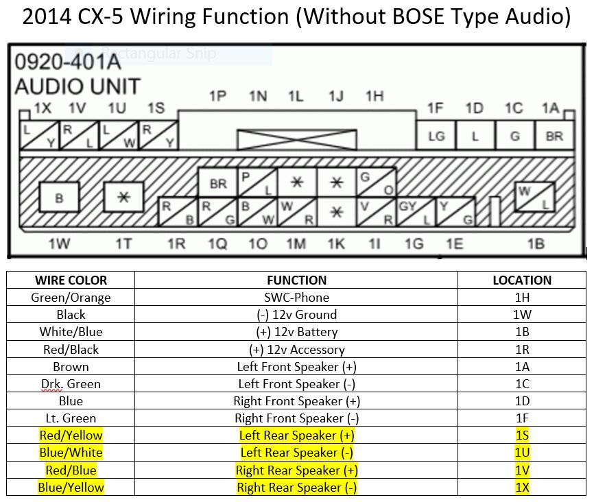 mazda speakers wiring diagram chrysler speakers wiring diagram my mazda cx-5 custom subwoofer: step 3: installing a ...