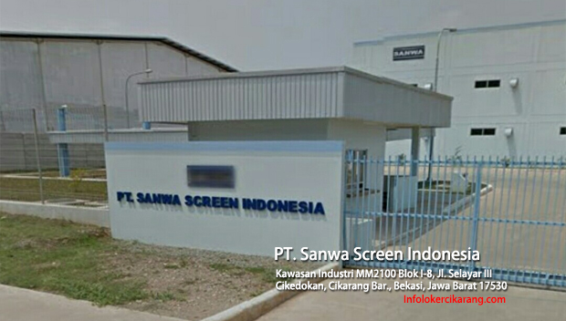 Lowongan Kerja PT. Sanwa Screen Indonesia Juli 2018