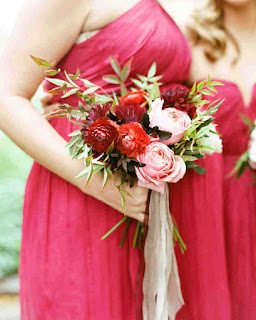 Peony and Roses Bridesmaid Flower Bouquets