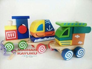 Mainan Kayu Kereta Petualang