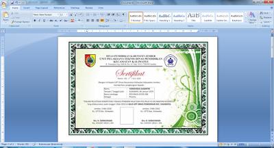 Aplikasi Cetak Piagam Penghargaan Juara Kelas Otomatis 5 template - Galeri Guru