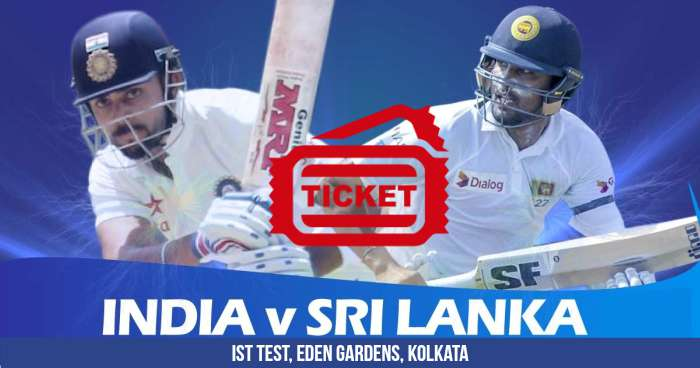 First Test Match Of The Series Between India And Sri Lanka Will Be Played At Eden Gardens Kolkata From 16th November 2017 To 20th