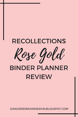 Rose Gold Recollections Binder Planner Flip Thru