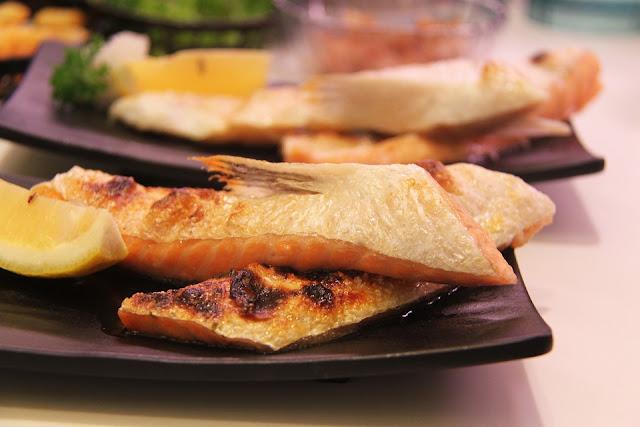 recette basses calories, sans gluten Atkins, phase 1 saumon, purée de poivrons, chou chinois