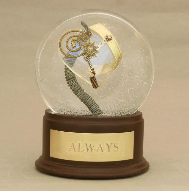 'Always' steampunk snow globe