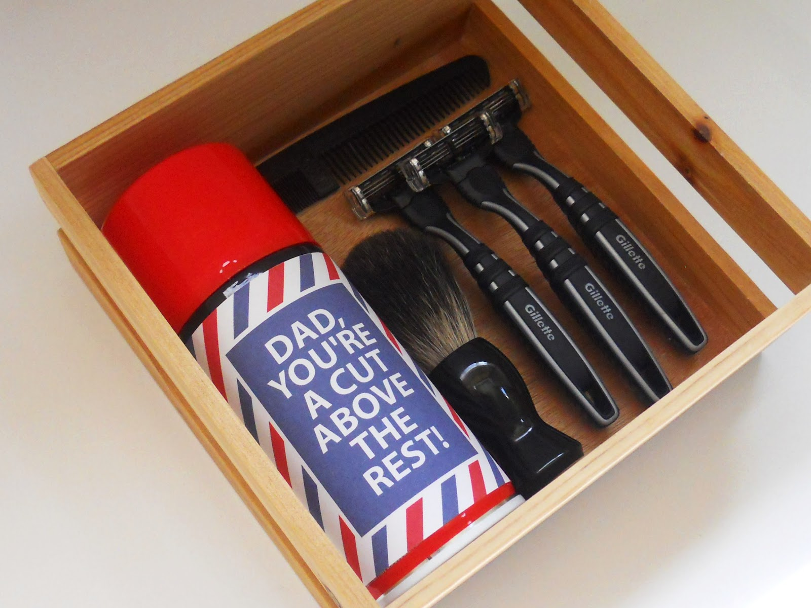 Father's Day Printable: Shaving Kit Label | Delightfully Noted