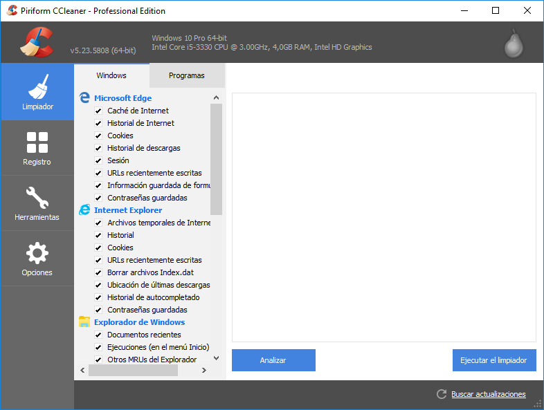 CCleaner Professional / Business / Technician v5.35.6210  Español Full Crack