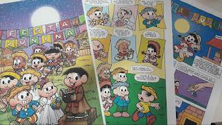 A história das Festas Juninas contada nos quadrinhos de Maurício de Souza