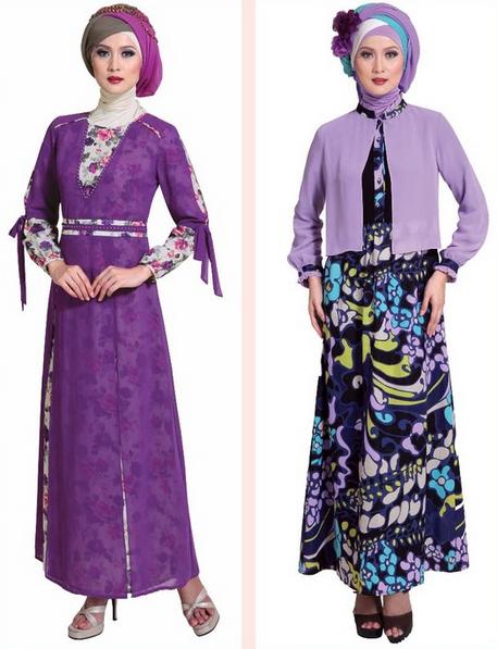 Gambar Model Baju Gamis Muslim Pesta