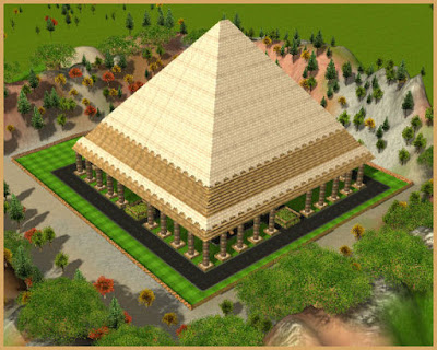 RCT3 Structure: Egyptian Pyramid 22x22 with garden