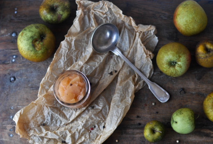 #preserved #apples with white wine and spices