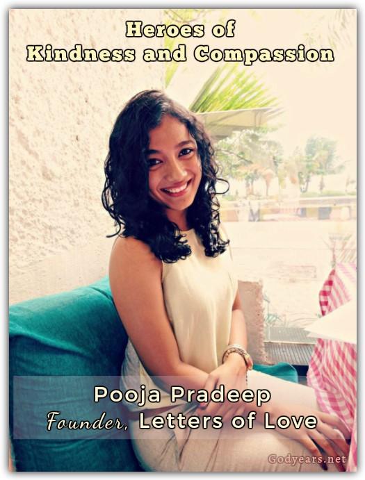 Heroes of Kindness: Pooja Pradeep, Letters of Love  #WATWB