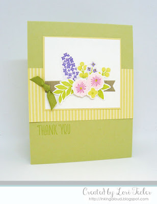 Spring Floral Thank You card-designed by Lori Tecler/Inking Aloud-stamps and dies from WPlus9