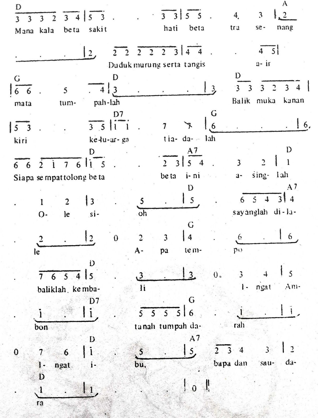 Chord & Arti Lirik Lagu Maluku: Ole Sioh + Not Angka