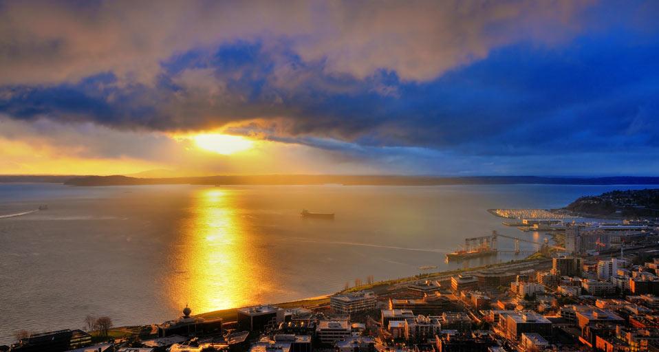 A Seattle sunset