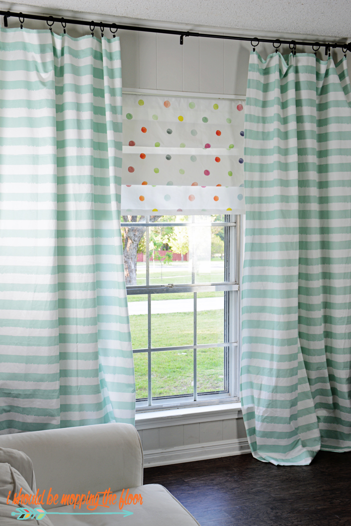 faux roman shade. How To Create Faux Roman Shades | Step-by-step Photo Tutorial On Creating Shade