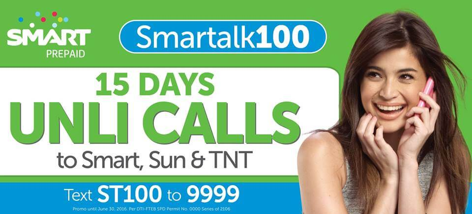 New 15 days Unlimited Call Promo to Smart, Sun and Talk N Text