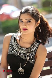 Actress Poojitha Pallavi Naidu Stills in Black Short Dress at Inkenti Nuvve Cheppu Movie Platinum Disc Function  0152.JPG