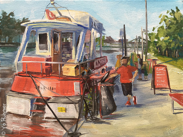 Boat Oilpainting, pleinairpainting