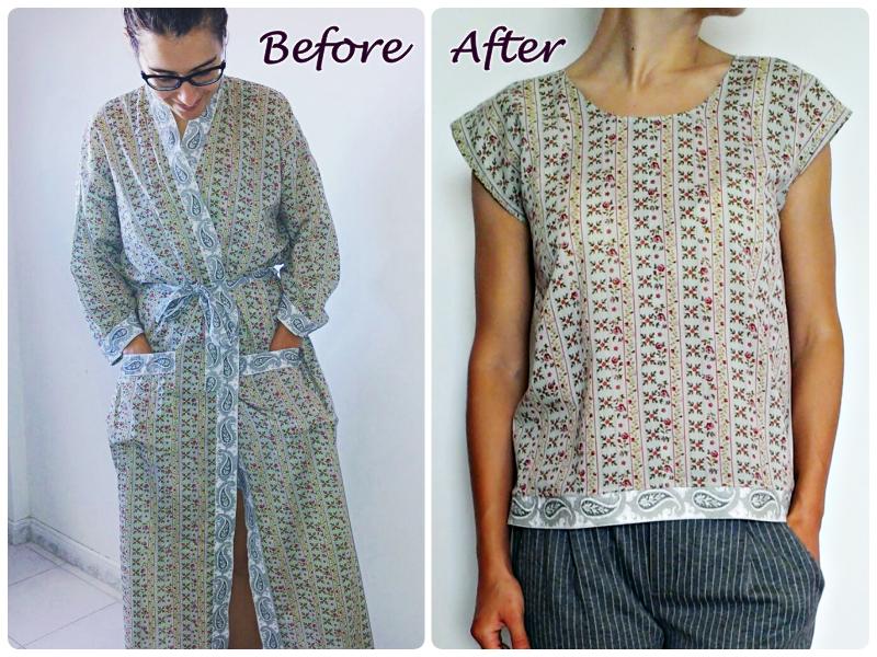 Restyling Exchange 2017 | Camiseta DIY fácil a partir de una bata