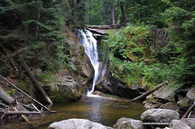 Karkonosze z dziećmi- Wodospad Szklarki