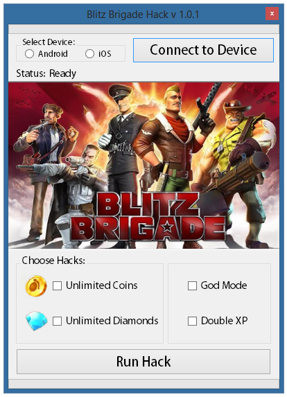 Blitz Brigade Hack and Cheats Tool v.1.01