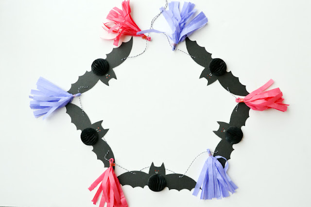 We R Memory Keepers DIY Party Vampire Bat Garland by Aly Dosdall #DIYParty #wermemorykeepers