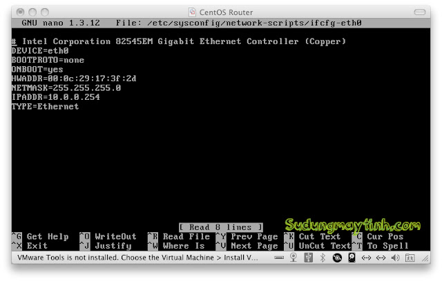 Guide how to setup the network configuration in CentOS and Ubuntu