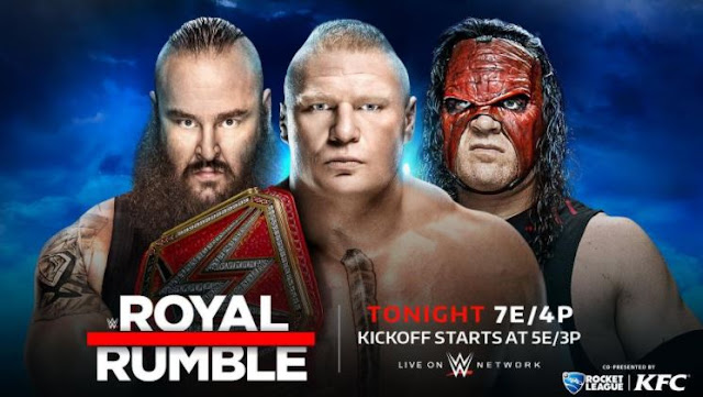 WWE Royal Rumble 2018 Live Stream WWE Network Triple threat match for the WWE Universal Championship