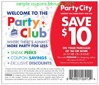 Party City coupons february