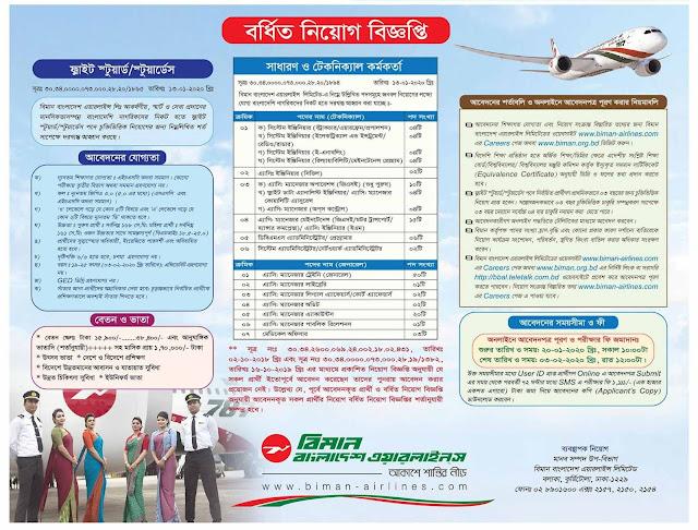 বিমান বাংলাদেশ এয়ারলাইন্সে নিয়োগ বিজ্ঞপ্তি ২০২০ - bangladesh biman job circular 2020 - ajker  chakrrir 2020