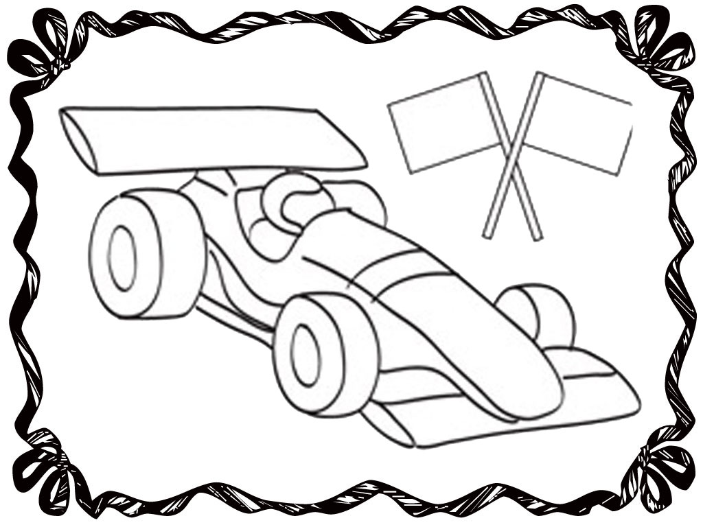 Blank Coloring Page Wheels Coloring Pages
