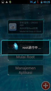 Screenshot proses root berjalan - catatandroid.blogspot.com