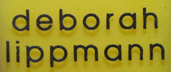 Deborah Lippmann in Yellow Brick Road   French manicure
