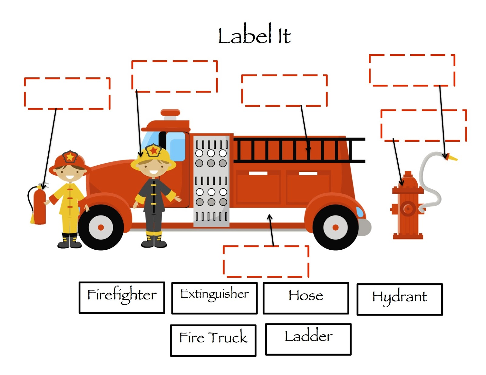 Fire Safety Vocabulary Words First Grade Garden Freebies