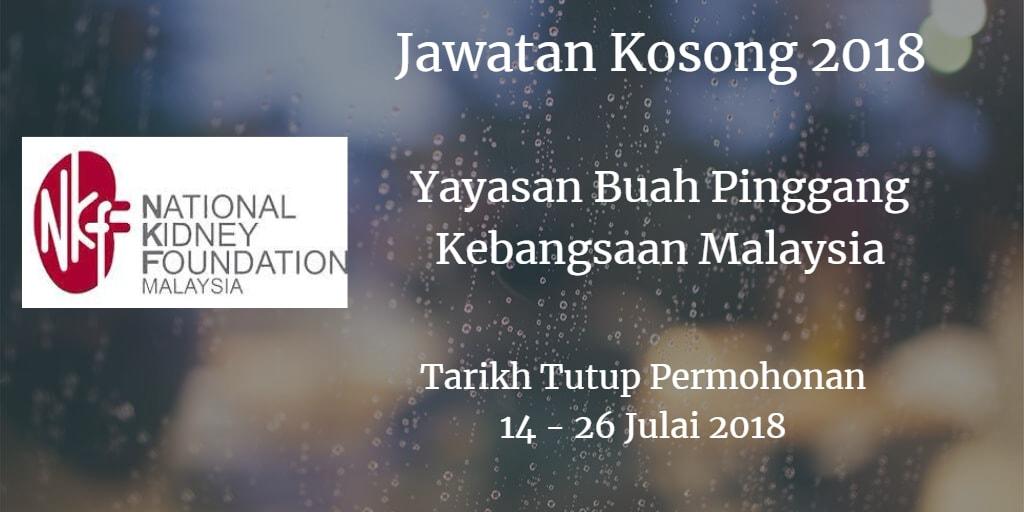 Jawatan Kosong NKF 14 - 26 Julai 2018