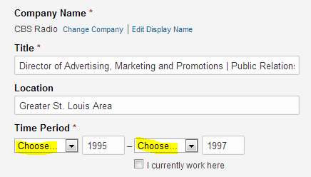 LinkedIn work experience, leave months blank in LinkedIn experience section, camouflage having had too many jobs,