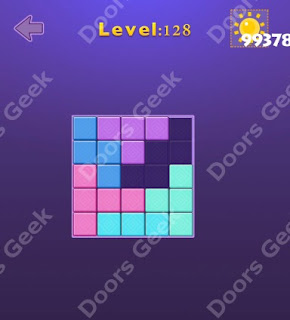 Cheats, Solutions, Walkthrough for Move Blocks Easy Level 128