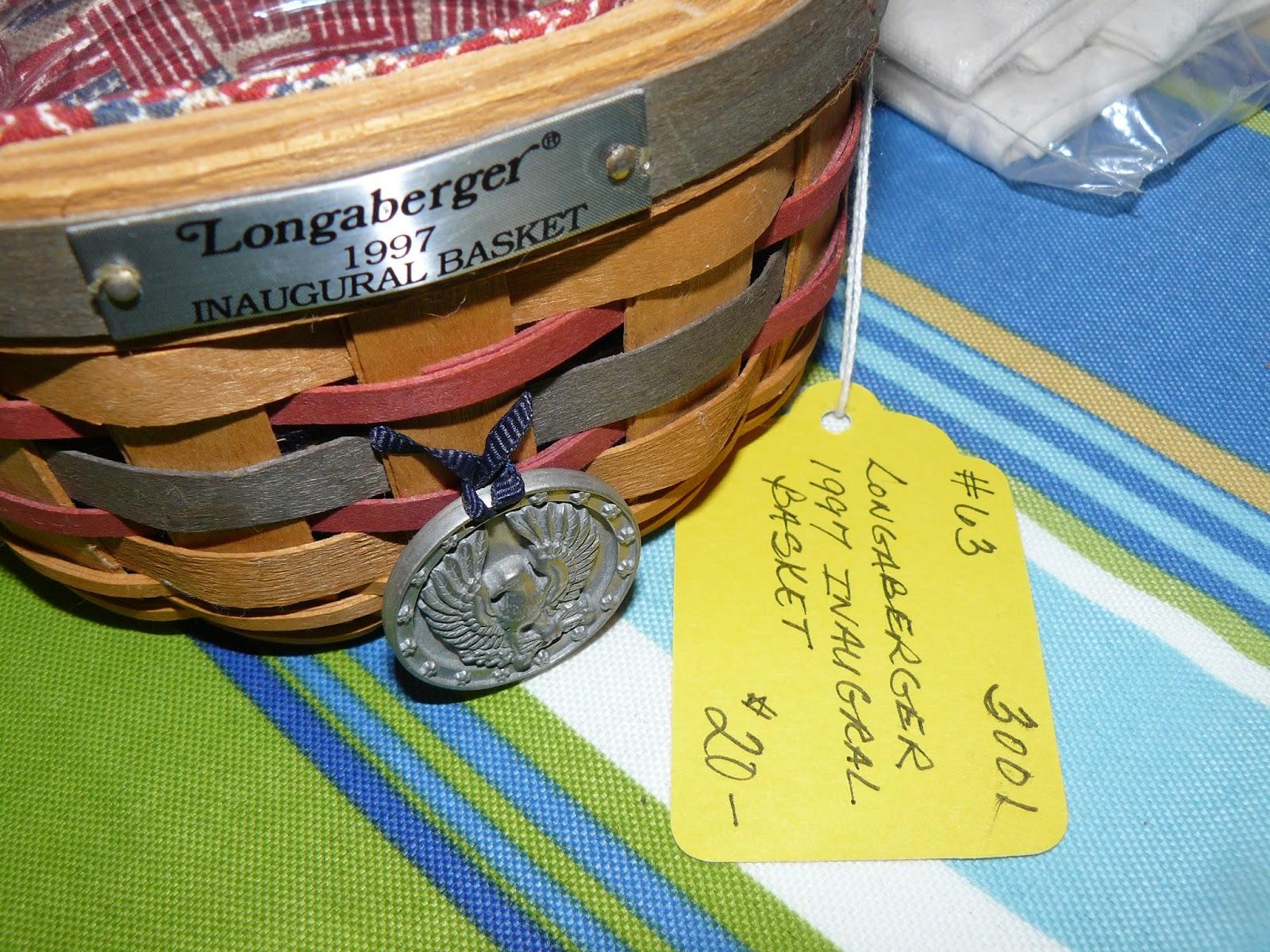 SCRANBERRY COOP : Longaberger Baskets, 1997 Inaugural ...