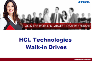 HCL Technologies MEGA Walkin Interview